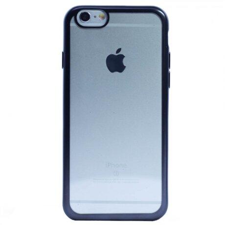 Husa Silicon pentru iPhone 6/6S ( Rama Gri )