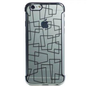 Husa Silicon pentru pentru iPhone 6/6S Rama Argintiu N