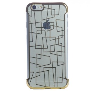 Husa Silicon pentru pentru iPhone 6/6S Rama Auriu N