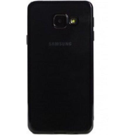 Husa Silicon Pentru Samsung Galaxy A3 2016 ( Rama Gri )