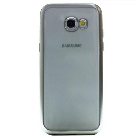 Husa Silicon Pentru Samsung Galaxy A5 2017 ( Rama Argintiu )