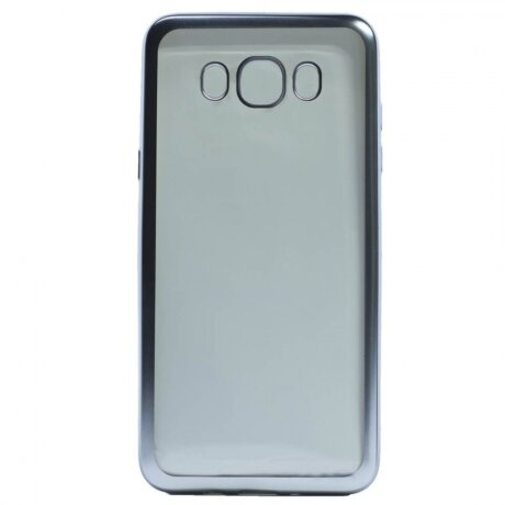 Husa Silicon Pentru Samsung Galaxy J7 2016 (Rama Argintiu)