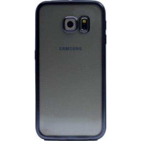 Husa Silicon Pentru Samsung Galaxy S6 Edge (Rama Negru)