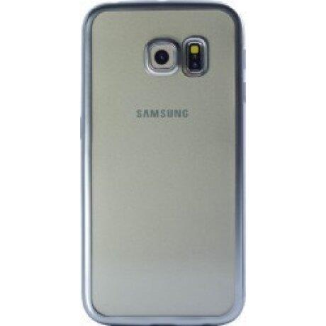 Husa Silicon Pentru Samsung Galaxy S6 ( Rama Argintiu )