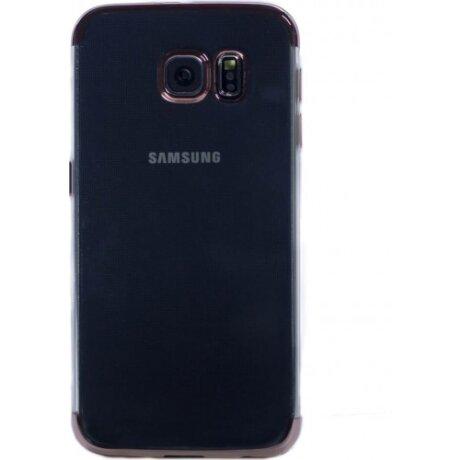 Husa Silicon Pentru Samsung Galaxy S6 ( Rama Roz )
