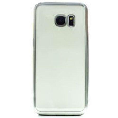 Husa Silicon Pentru Samsung Galaxy S7 Edge ( Rama Argintiu )