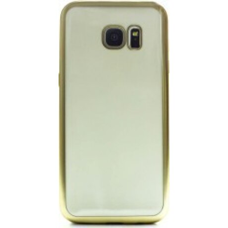 Husa Silicon Pentru Samsung Galaxy S7 Edge ( Rama Auriu )