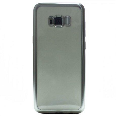 Husa Silicon Pentru Samsung Galaxy S8 Plus (Rama Argintiu)