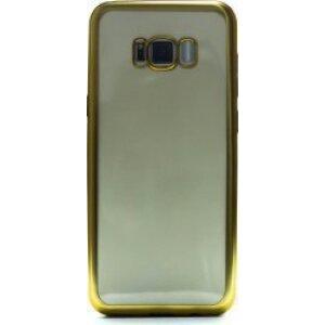 Husa Silicon Pentru Samsung Galaxy S8 Plus (Rama Auriu)