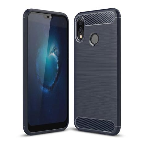 Husa Silicon Samsung Galaxy A10/M10, Carbon Albastru