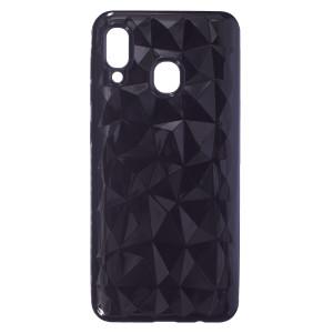 Husa Silicon Samsung Galaxy A30, Negru Prism