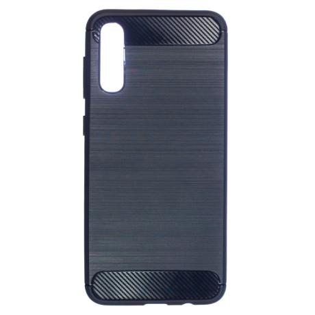 Husa Silicon Samsung Galaxy A50, Carbon Albastru