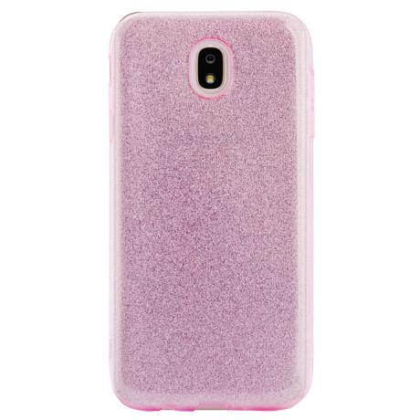 Husa silicon Samsung Galaxy J7 2017 Roz Glitter