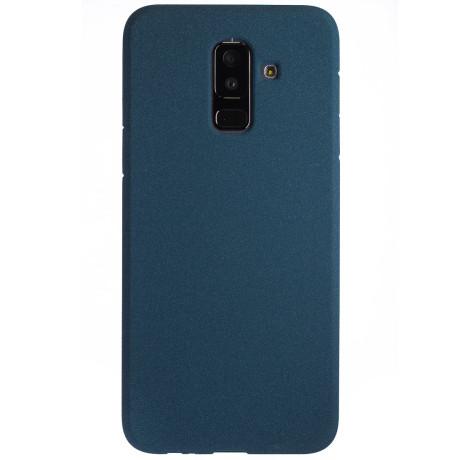 Husa Silicon Samsung Galaxy A6 Plus 2018, Albastru Sand