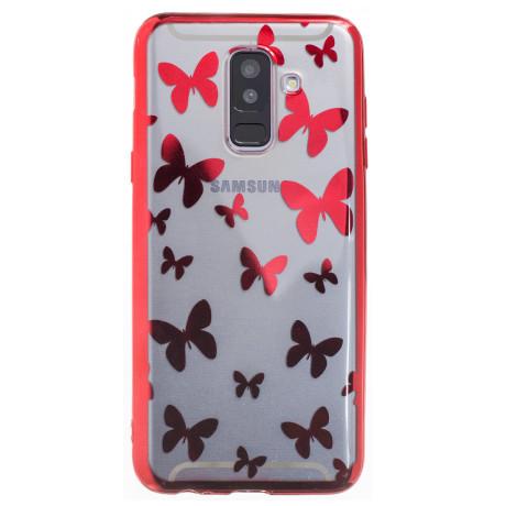 Husa Silicon Samsung Galaxy A6 Plus, Fluturi