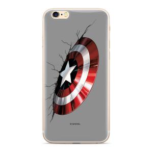 Husa Silicon Samsung Galaxy A7 2018 Captain America 023 Grey