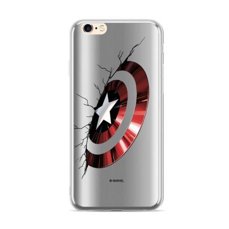 Husa Silicon Samsung Galaxy A7 2018 Captain America 023 Silver