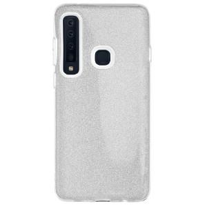 Husa Silicon Samsung Galaxy A9 2018, Glitter Argintie