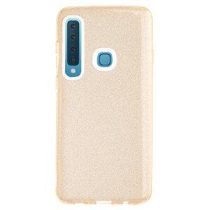 Husa Silicon Samsung Galaxy A9 2018, Glitter Aurie
