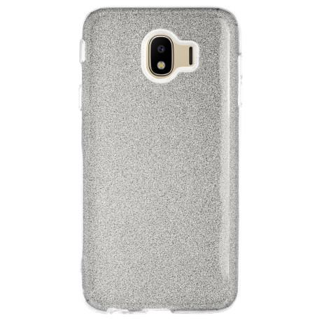 Husa Silicon Samsung Galaxy J4 2018, Glitter Argintie