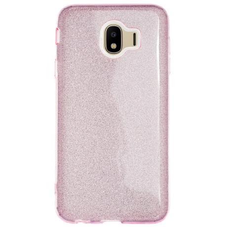 Husa Silicon Samsung Galaxy J4 2018, Glitter Roz