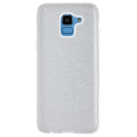 Husa Silicon Samsung Galaxy J6 2018, Glitter Argintie