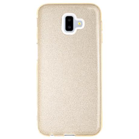 Husa Silicon Samsung Galaxy J6 Plus 2018, Glitter Aurie