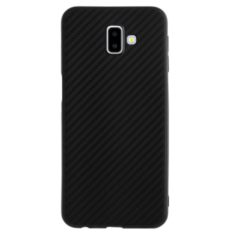 Husa Silicon Samsung Galaxy J6 Plus, Carbon Neagra