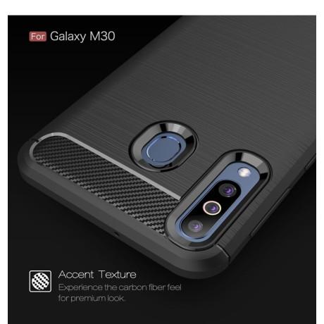 Husa Silicon Samsung Galaxy M30, Carbon Negru