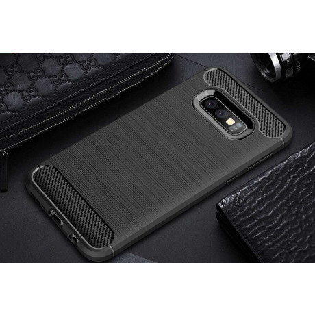 Husa Silicon Samsung Galaxy S10, Carbon Negru