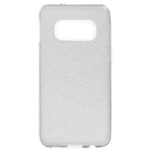 Husa Silicon Samsung Galaxy S10 E, Glitter Argintie