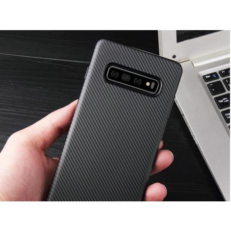 Husa Silicon Samsung Galaxy S10 E,  Negru Carbon Mat