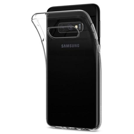 Husa Silicon Samsung Galaxy S10 E, Transparent Liquid Crystal