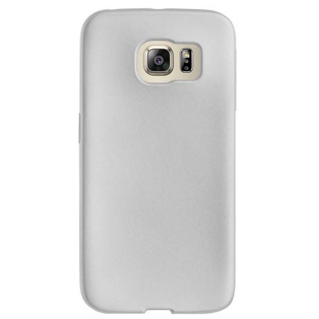 Husa silicon Samsung Galaxy S6 Edge, Contakt Argintiu