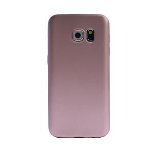 Husa silicon Samsung Galaxy S6 Edge, Contakt Roz Gold