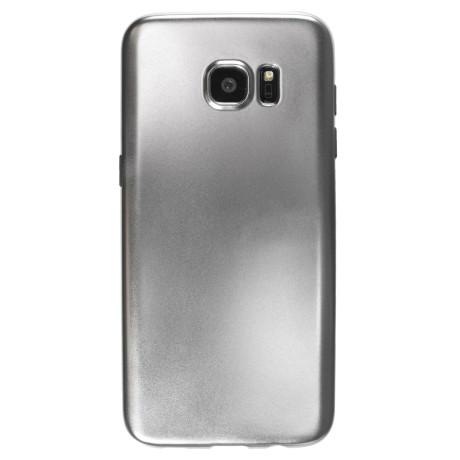 Husa silicon Samsung Galaxy S7 Edge, Contakt Argintie