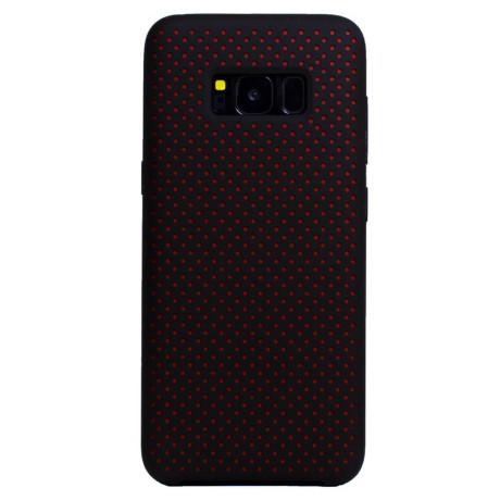 Husa silicon Samsung Galaxy S8 iShield Negru-Rosu