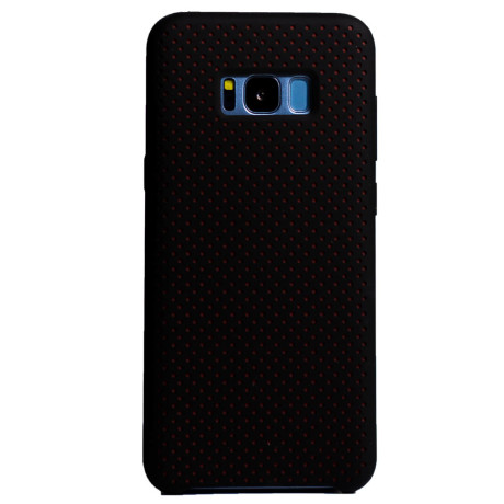 Husa silicon Samsung Galaxy S8 Plus, iShield Negru-Rosu