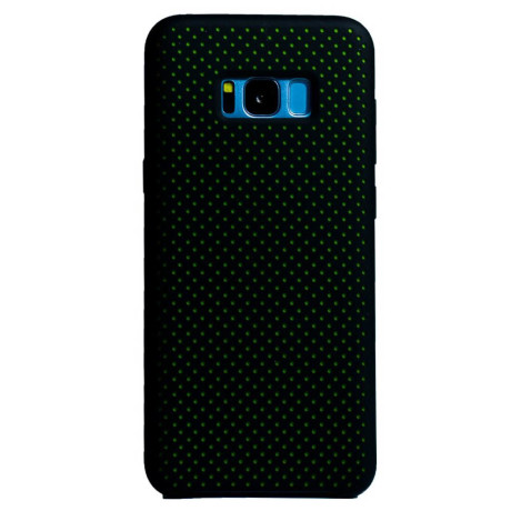 Husa silicon Samsung Galaxy S8 Plus iShield Negru-Verde