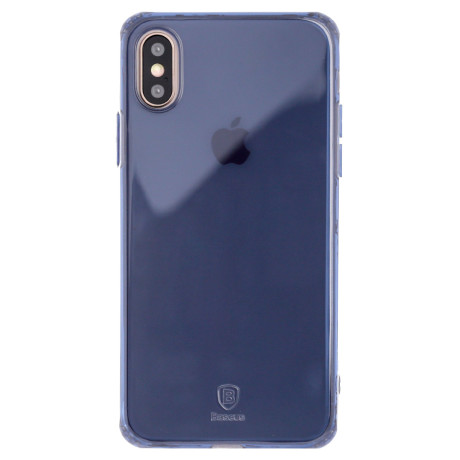 Husa Silicon Simple iPhone X, Baseus Albastra