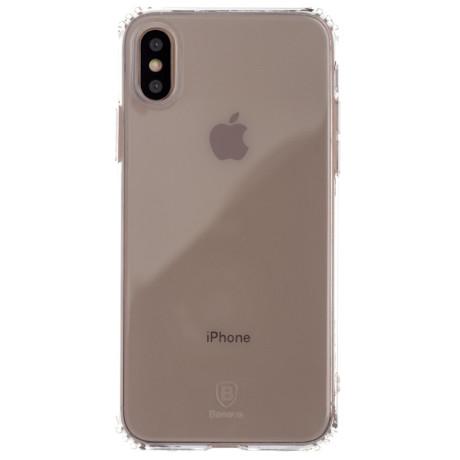 Husa Silicon Simple iPhone X, Baseus Transparenta