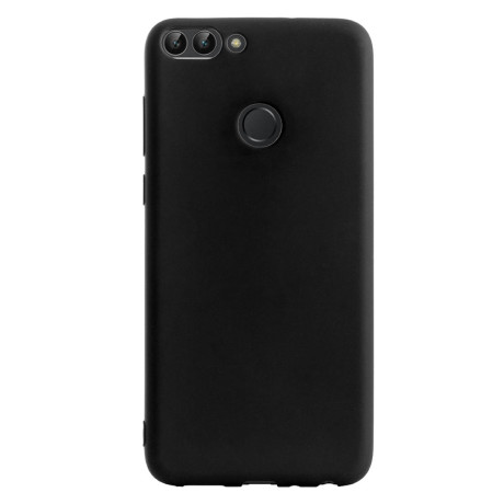 Husa Silicon Slim Huawei P Smart, Contakt Negru mat
