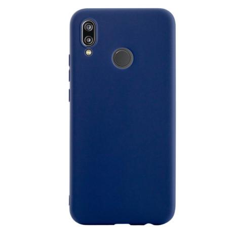 Husa silicon slim Huawei P20 Lite, Contakt Albastru mat