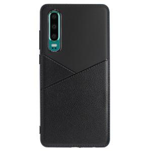 Husa Silicon Slim Huawei P30, Negru Arm