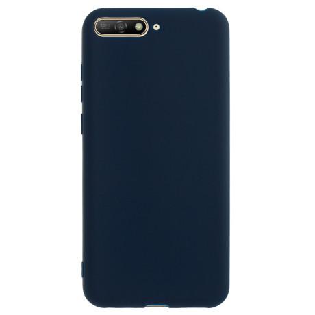 Husa silicon slim Huawei Y6 2018, Albastru Mat