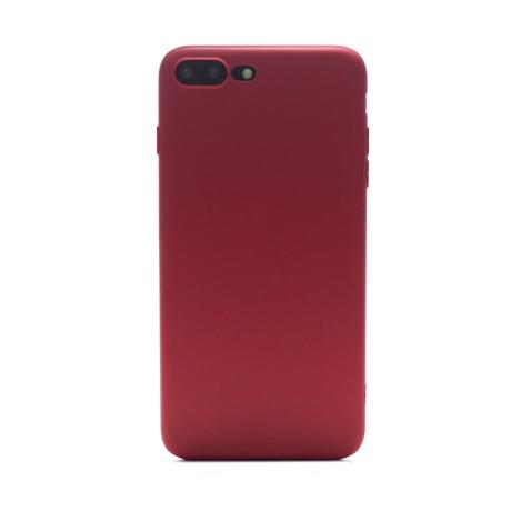 Husa silicon slim Iphone 7 Plus, Contakt Rosu mat