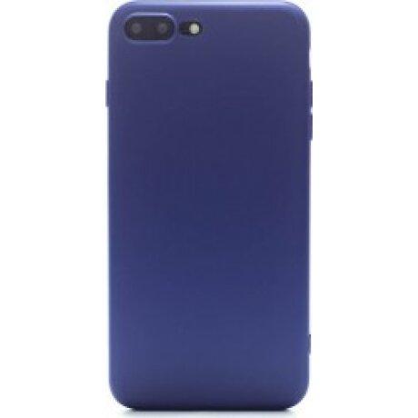 Husa Silicon Slim iPhone 8 Plus Albastru Mat