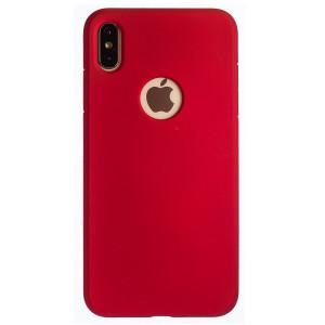 Husa Silicon Slim iPhone XS Max, Rosu