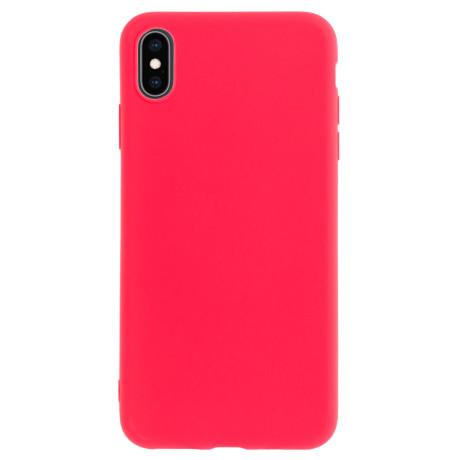 Husa silicon slim Iphone XS Max, Rosu Mat