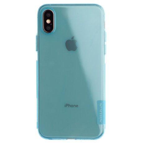Husa Silicon Slim iPhone X/XS, Nillkin Albastra